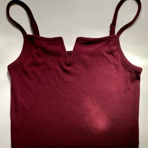 💥3 for $20 - Burgundy Crop Top